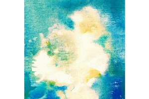 Abstract blue watercolor background.