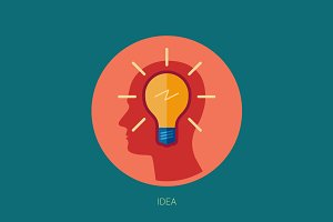 Idea, inspiration, insight icon.