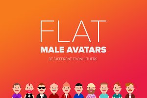 Flat Male Avatars