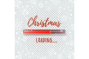 Christmas loading. Abstract design template.