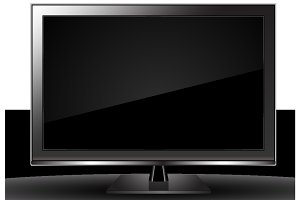 TV Monitor Vector Graphics