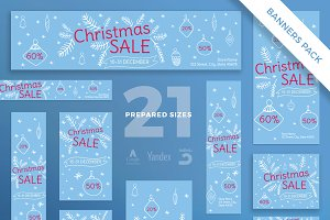 Banners Pack | Christmas Sale