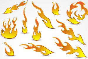 Flames Vector Elements
