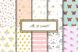 Ah, so sweet! Seamless Patterns