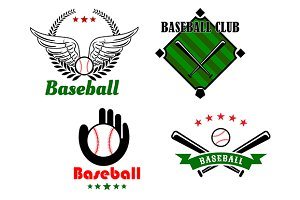 Baseball emblems and badges