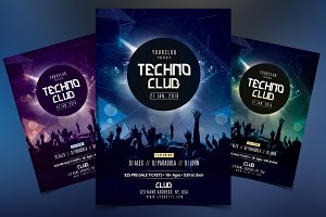 Techno Club - PSD Flyer