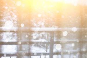 Snow Winter in a Window