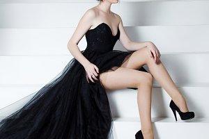Beauty Brunette model woman holiday