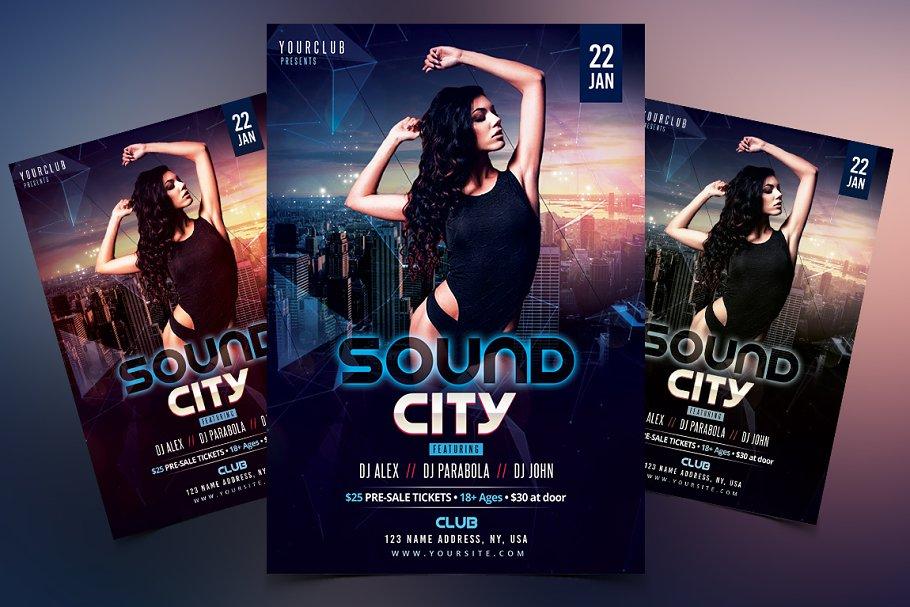 Sound City Psd Flyer Template