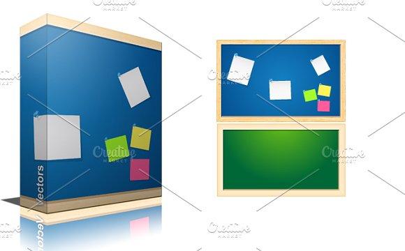Noticeboard vectors illustrations on creative market for Cool notice board designs