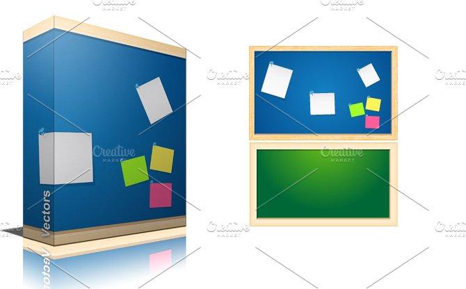 Noticeboard vectors illustrations creative market for Creative notice board