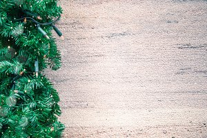 Christmas lighting frame cement