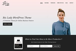 Biz Lady WordPress Theme