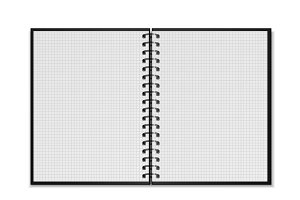 Open spiral notepad mockup