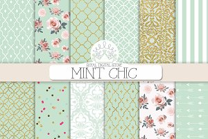 MINT CHIC digital paper