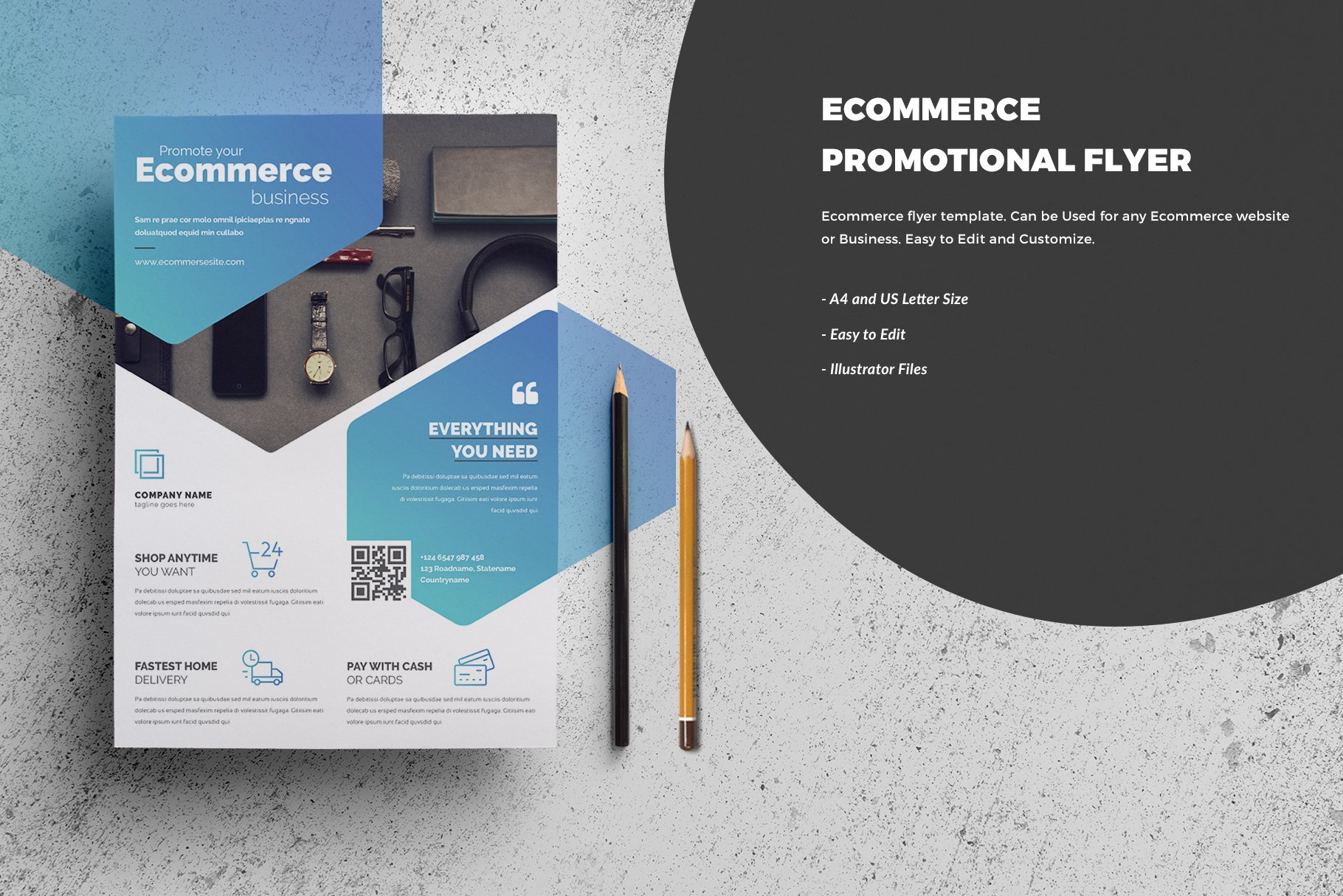 E-Commerce Flyer Template ~ Flyer Templates ~ Creative Market