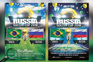 Soccer World Cup 2018 | 2in1 Flyer