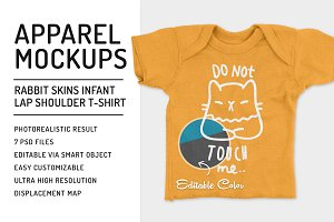 Infant Lap Shoulder T-Shirt Mockups