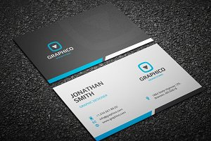 Clean Corporate Business Card 11
