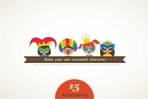Set of costume accessories