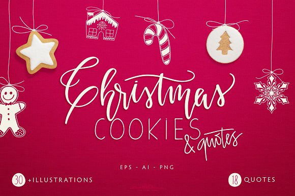 christmas cookies and quotes objects
