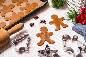 Christmas food, gingerbread cookies