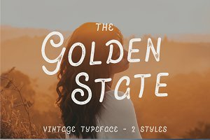 The Golden State - Vintage Font