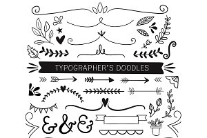 Doodle Clip Art for Typographers
