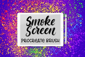 Smoke Screen Procreate brush