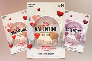 Vibe Valentines - PSD Flyer Template