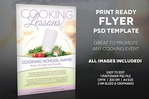 Cooking Lessons - A4 Flyer Template