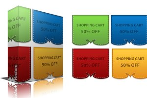 Sale Discount Banners Vectors