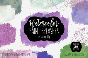 Water Lily Watercolor Washes