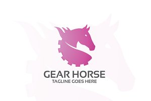 Gear horse – Logo Template