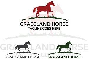 Grassland horse – Logo Template