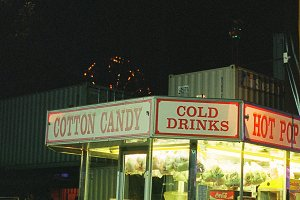Cold Drinks Cart at Night