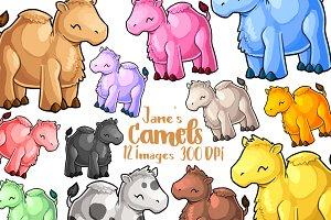 Kawaii Camels Clipart