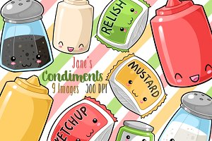 Kawaii Condiments Clipart