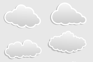 Clouds Vector Stickers