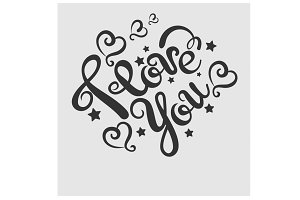 I love you, tattoo design