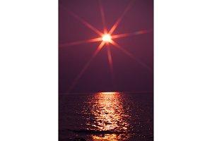 Ocean Sunset Lens Flare