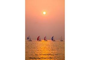 Sunset Sailboat Race