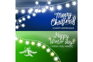 Merry Christmas and Happy Winter Days Postcards