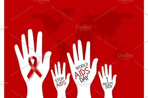 World aids day design in Illustrations