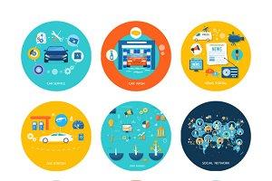 Car service car wash social media