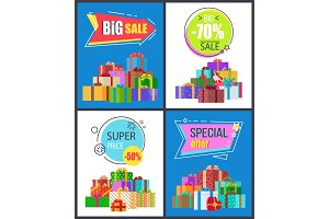 Big Sale Special Offer Best Prices Discount Labels