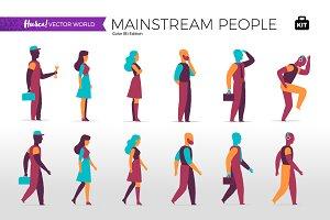 Mainstream People - Vector World