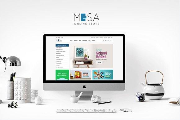 Mesa Book Store WordPress Theme