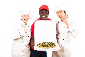 Chefs Are Happy With Pizza Service