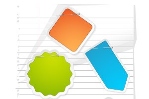 Notepaper and Labels Stickers